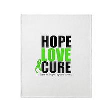 NonHodgkins HopeLoveCure Throw Blanket