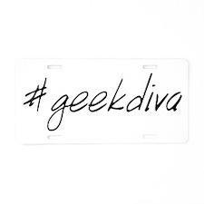 #geekdiva Aluminum License Plate