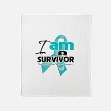 I'm a Survivor Ovarian Cancer Throw Blanket