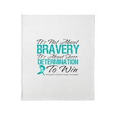 Bravery Ovarian Cancer Throw Blanket