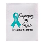 Supporting Hero Ovarian Throw Blanket
