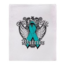 Ovarian Cancer Warrior Throw Blanket