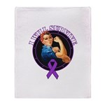 I Will Survive Pancreatic Cancer Throw Blanket