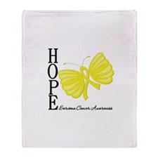 Hope Butterfly Sarcoma Throw Blanket