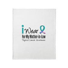 Thyroid Cancer (MIL) Throw Blanket
