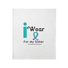 Thyroid Cancer Throw Blanket