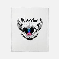 Warrior Thyroid Cancer Throw Blanket