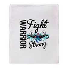 Fight Strong Thyroid Cancer Throw Blanket