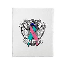 Thyroid Cancer Warrior Throw Blanket