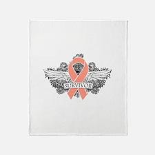 Uterine Cancer Survivor Throw Blanket