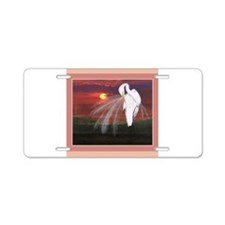 Great American Egret Aluminum License Plate