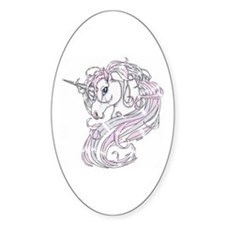 Unicorn Oval Decal