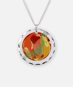 LOOKING THROUGH THE FISH BOWL Necklace Circle Char