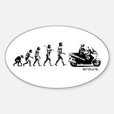 SUZUKI BURGMAN EVOLUTION Sticker (Oval)