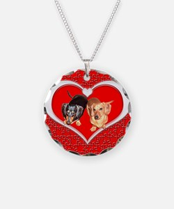 Love Dachshund Dogs Necklace