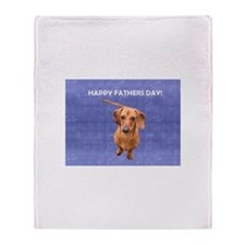 Fathers Day Dog Throw Blanket