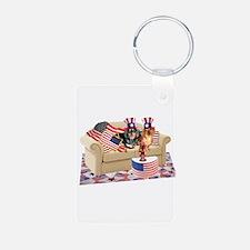 USA Dogs Keychains