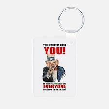 Uncle Sam Vote Keychains