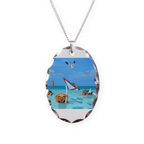 Ocean Necklace Oval Charm