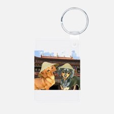 Doxies in China Keychains