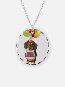 Black Doxie Birthday Necklace