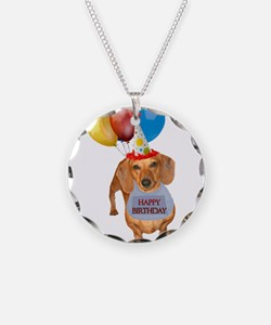 Red Doxie Birthday Necklace
