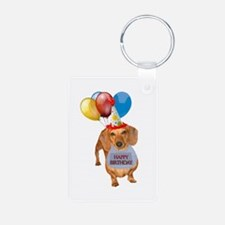 Red Doxie Birthday Keychains
