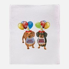 Doxie Birthday Throw Blanket