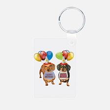 Doxie Birthday Keychains