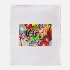 Party Animals Dachshunds Dogs Throw Blanket