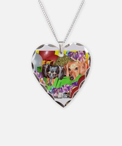 Party Animals Dachshunds Dogs Necklace
