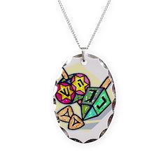 Jewish Dreidels Necklace