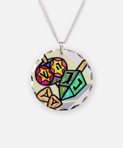 Jewish Dreidels Necklace