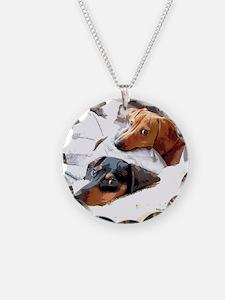 Naptime Love Dachshunds Necklace