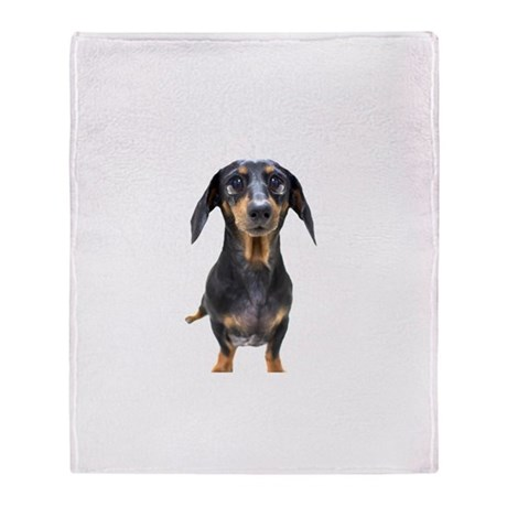 Crying Doxie Throw Blanket