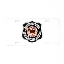 K9 Police Department Aluminum License Plate