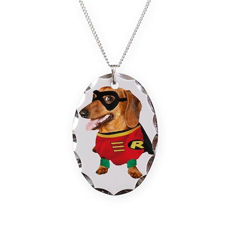 Batdogs Sidekick Necklace Oval Charm
