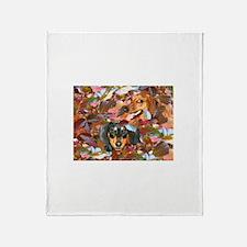 Leaf Pile Throw Blanket