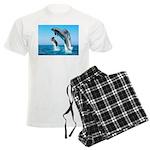 Doxie & Dolphins Men's Light Pajamas