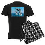 Doxie & Dolphins Men's Dark Pajamas