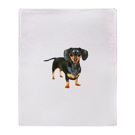 Lily Dachshund Dogs Here Throw Blanket
