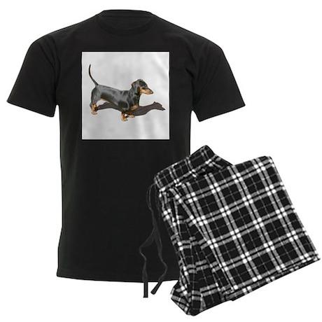 Model Dachshund Dog Men's Dark Pajamas