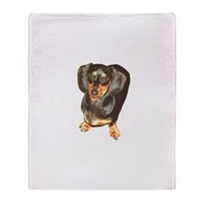 Lil Lily Dachshund Dog Throw Blanket