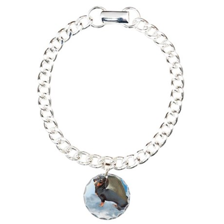 Angel Dachshund Dogs Charm Bracelet, One Charm