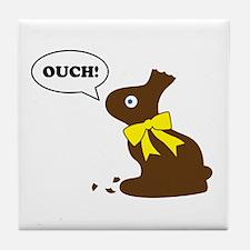 Bunny Ouch Tile Coaster