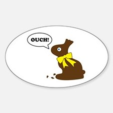 Bunny Ouch Sticker (Oval)