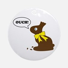 Bunny Ouch Ornament (Round)