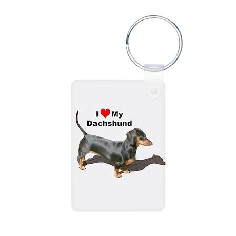 Doxie Love Aluminum Photo Keychain
