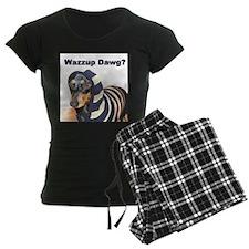 Wazzup Dawg Dachshund Pajamas