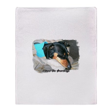 I Dont Do Mornings Doxie Throw Blanket